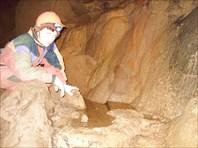 Далекая подземная речка с водопадиками.