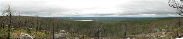 Вид с горы на Финляндию (до неё 60 км).