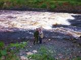 Воды Суны после гидроэлектростанции.