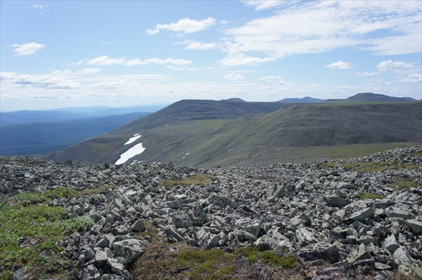 Вид на перевалы.
