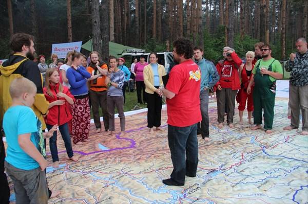 А мы начали игрища на огромной карте России