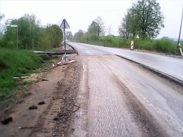 Ремонт дороги рядом с Голдапом.