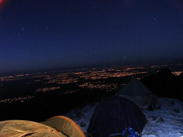 Ночной Самарканд с высоты птичьего полета