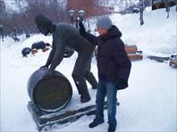 Памятник от пивного завода