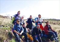 группа на склоне Горы