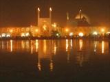 площадь Хомейни в Исфахане ночью