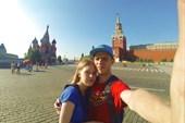 Я с любимой на красной площади
