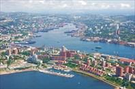 Center_of_Vladivostok_and_Zolotoy_Rog-город Владивосток
