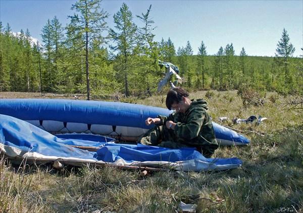 Ремонт катамаран на реке Войкар
