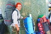 На вокзале в Москве. Новый рюкзак Bask Light 75 XL.