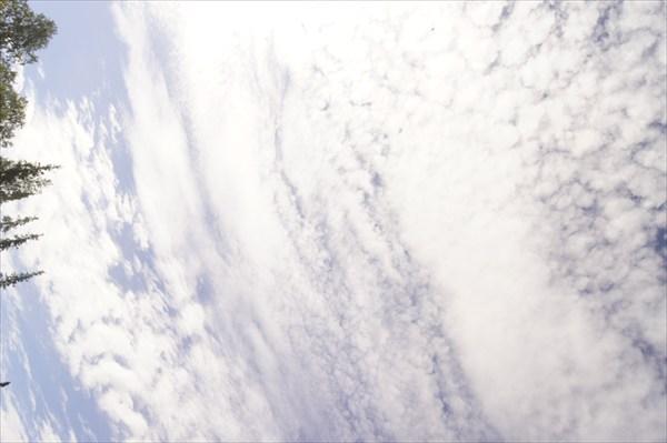 Небо, когда мы добрались до места стоянки