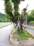 Зальцбург. Памятник велосипедисту