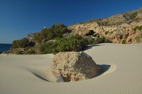 Нетронутые пески самой дальней части Elafonisi