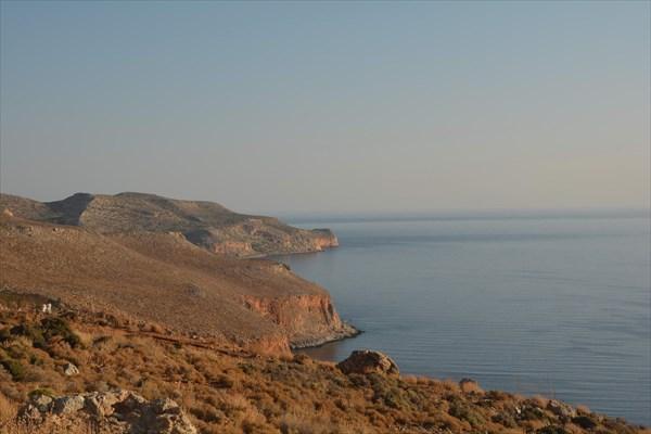 Утренняя дорога на Balos
