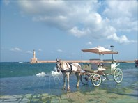 Короткая конная прогулка по старой части Chania