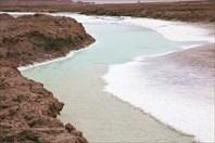 Соленая река - бирюзовая вода, белые берега
