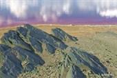 `Северное` сияние над кислотным озером