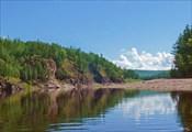 Витим в 5 км ниже впадения Каренги