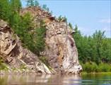 Причудливые скалы на Витиме ниже «Трёх братьев»