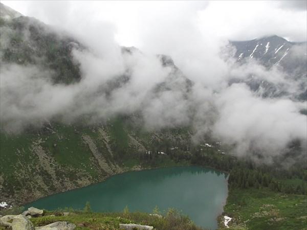 Озеро перед цирком перевала Детский