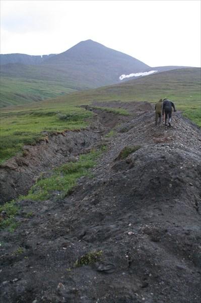 Одна из многих канав, выкопанных хитачи
