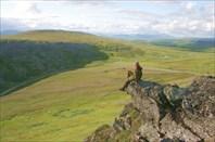 Катя на скале
