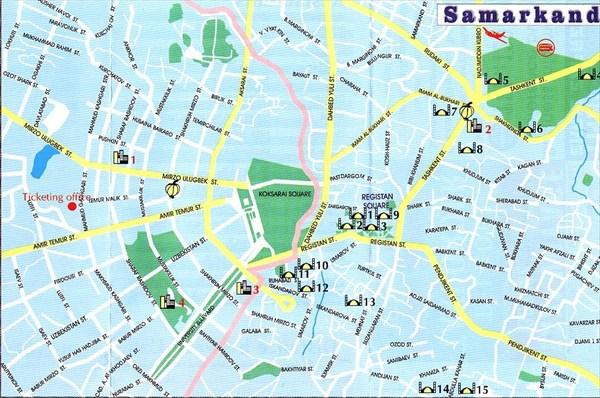 Карта Самарканда