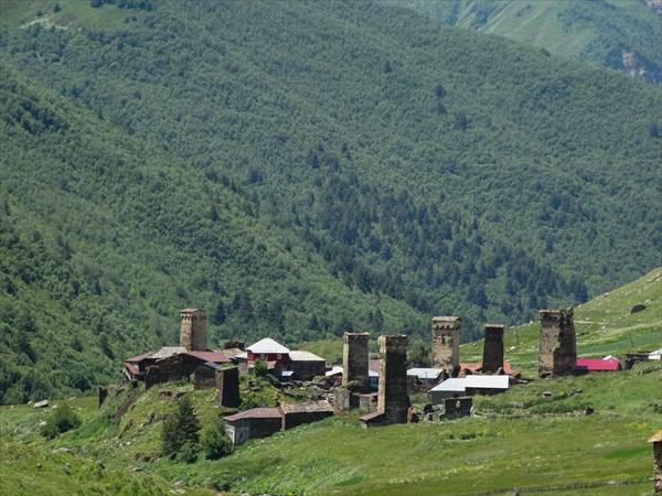 Высокогорное село Ушгули .Сванетия .Грузия
