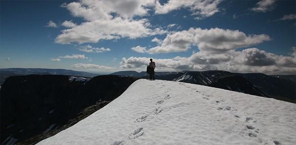На вершине хребта Поачвумчорр