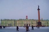 Александровская колонна и Эрмитаж