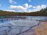 Купальня на озере Лебяжье