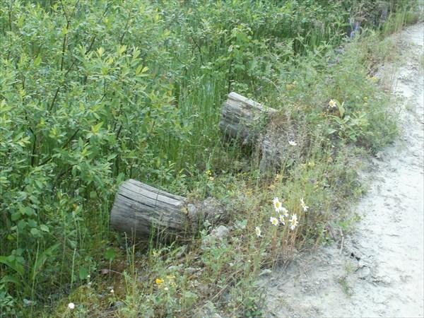 В основании дороги - поперечные брёвна