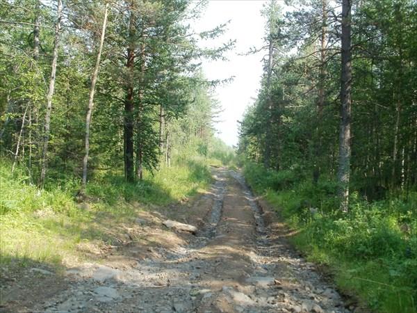 Дорога с Качканара вниз