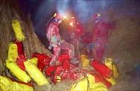 заброска подводного снаряжения-пещера Система им. В.В. Илюхина