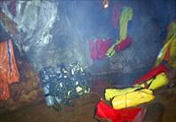 акваланги за С2-пещера Система им. В.В. Илюхина