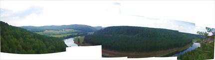 Панорама со скал Сикияз - Тамака