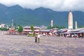 рыночная площадь перед Three Pagodas