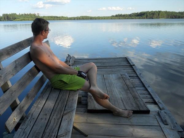 На озере Санхар