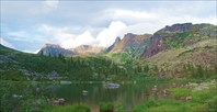 Хребет Спящий Саян от озера Радужное