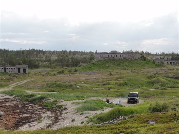 Развалины станции наблюдения за подлодками