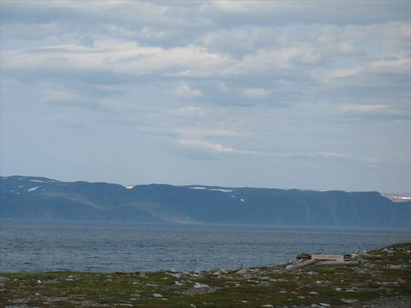 Полуостров Нордкин с полуострова Варангер