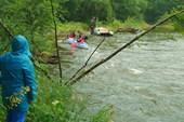Река Ушма. Отплытие группы водников.