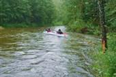 Река Ушма. Отплытие группы водников