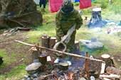 Приготовление обеда на стоянке «С ложкой»