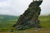 Каменный останец на перевале Дятлова