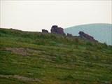 Каменные останцы на боковом отроге