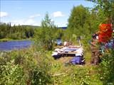 На реке Лозьва. Встреча с рыбаками