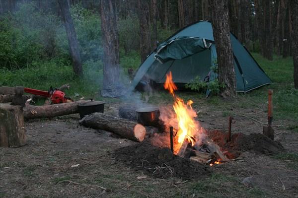 Наш лагерь, первая остановка