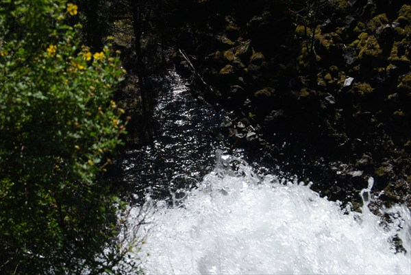 Водопад. Вид сверху