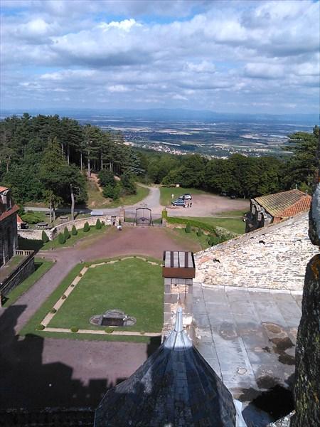 """""""Панорама"""" с самой высокой башни в замке"""